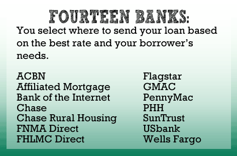 You select where to send your loan based on the best rate and the borrower's needs.